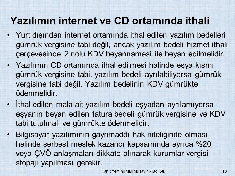 Yazılımın internet ve CD ortamında ithali