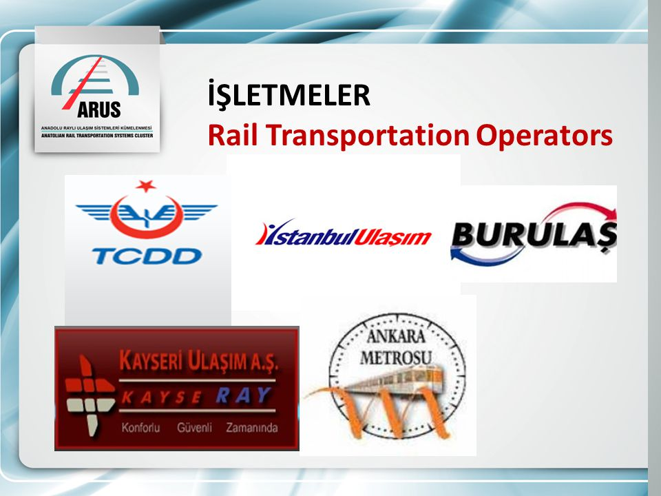 İŞLETMELER Rail Transportation Operators
