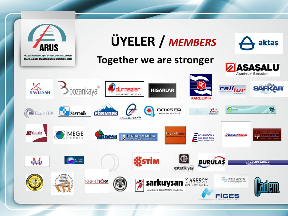 ÜYELER / MEMBERS Together we are stronger