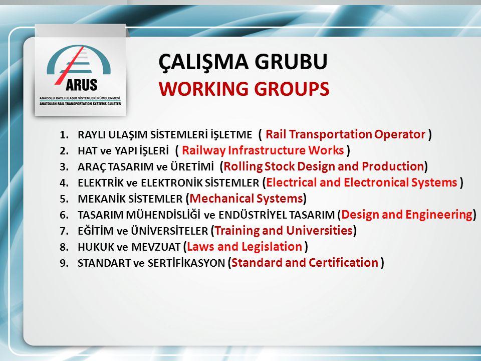 ÇALIŞMA GRUBU WORKING GROUPS