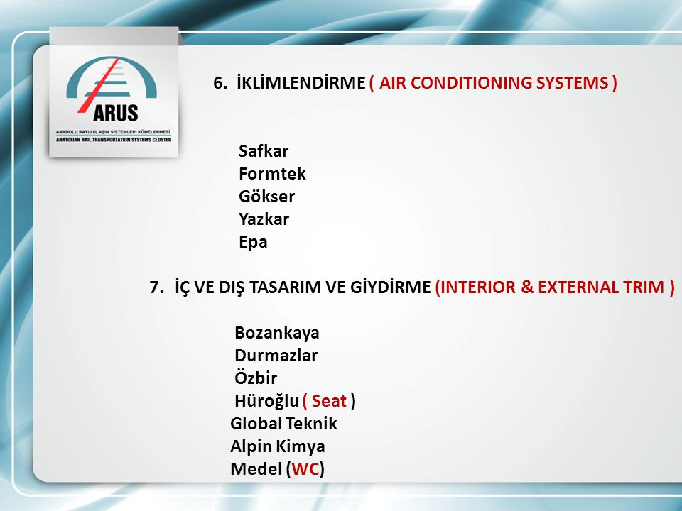6. İKLİMLENDİRME ( AIR CONDITIONING SYSTEMS )