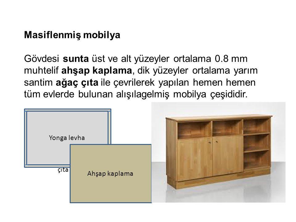 Masiflenmiş mobilya