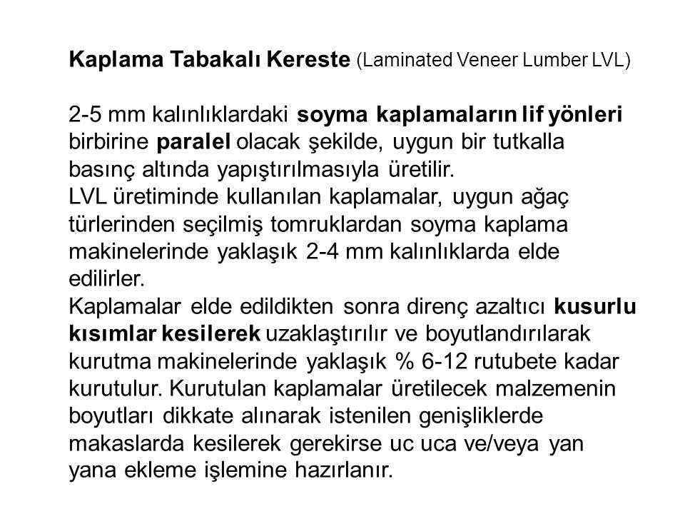 Kaplama Tabakalı Kereste (Laminated Veneer Lumber LVL)