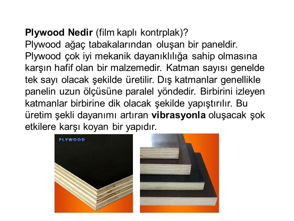 Plywood Nedir (film kaplı kontrplak)