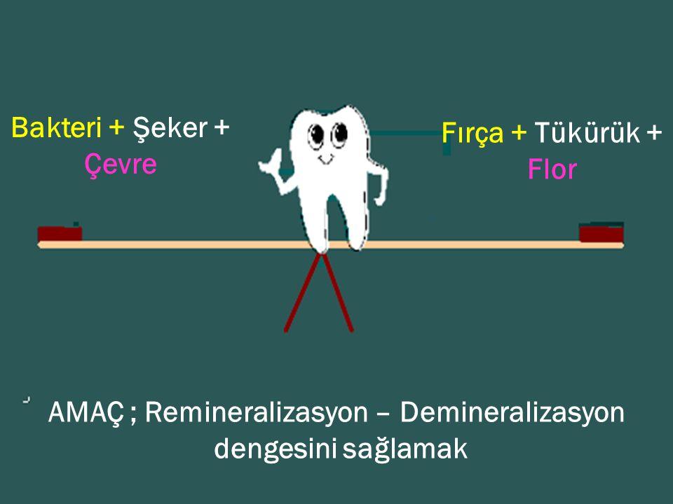 AMAÇ ; Remineralizasyon – Demineralizasyon