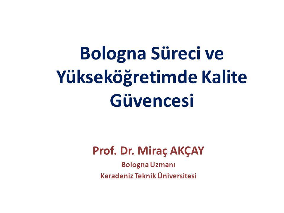 Bologna Süreci ve Yükseköğretimde Kalite Güvencesi