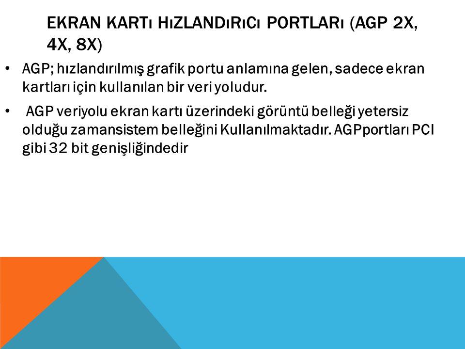 Ekran Kartı Hızlandırıcı Portları (AGP 2x, 4x, 8x)