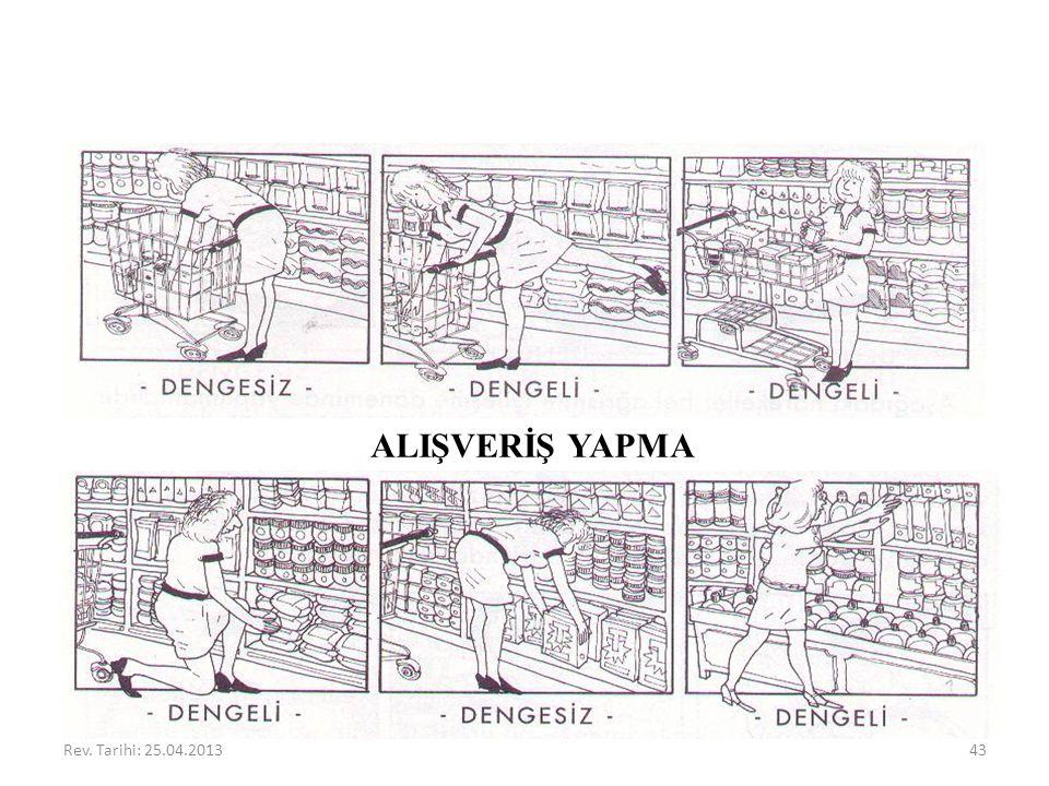 ALIŞVERİŞ YAPMA Rev. Tarihi: 25.04.2013