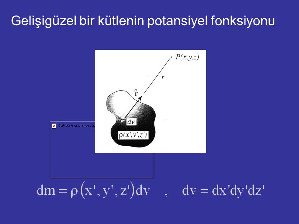 Gelişigüzel bir kütlenin potansiyel fonksiyonu