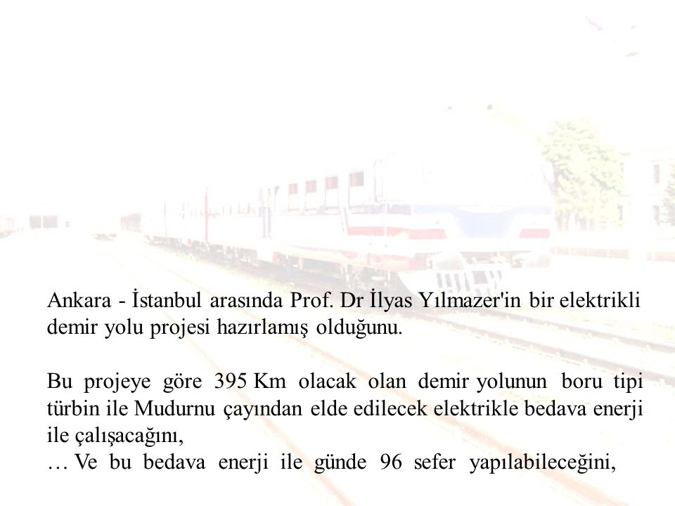 Ankara - İstanbul arasında Prof