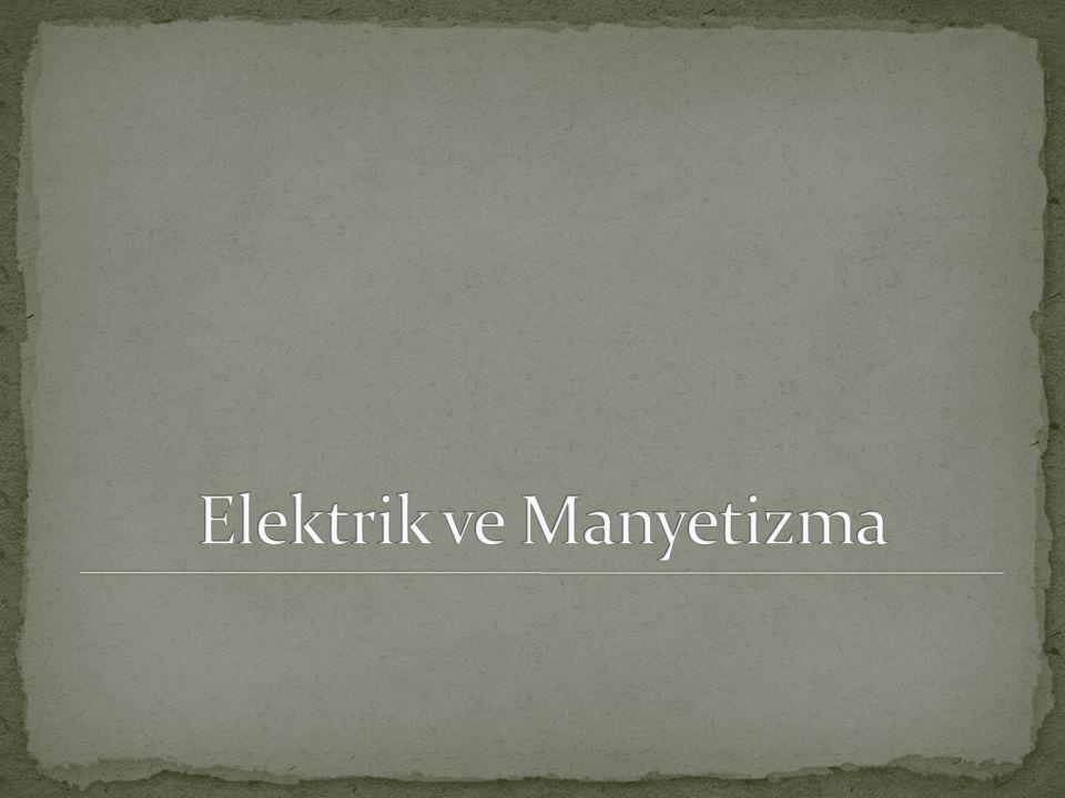 Elektrik ve Manyetizma