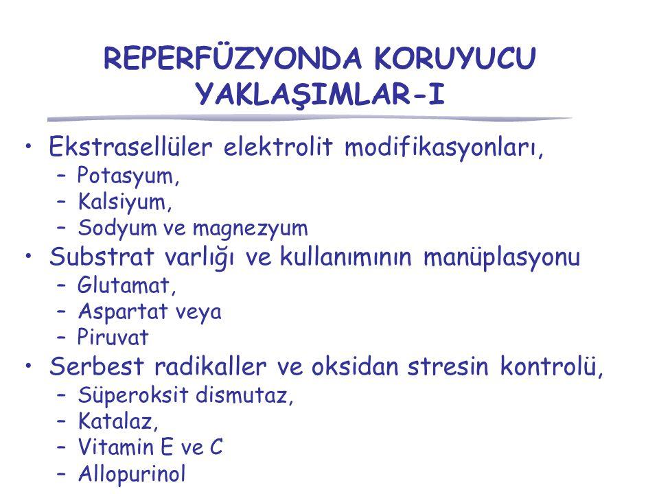 REPERFÜZYONDA KORUYUCU YAKLAŞIMLAR-I