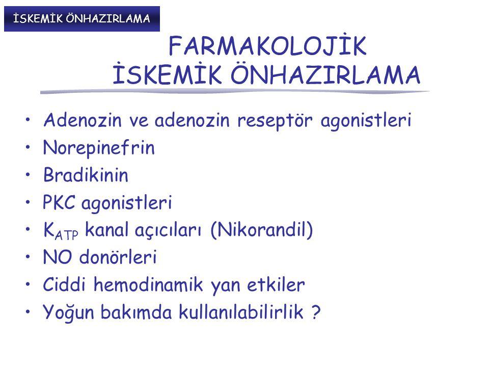 FARMAKOLOJİK İSKEMİK ÖNHAZIRLAMA