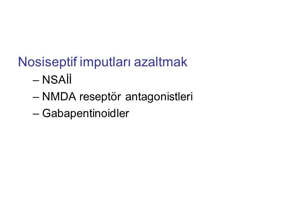 Nosiseptif imputları azaltmak