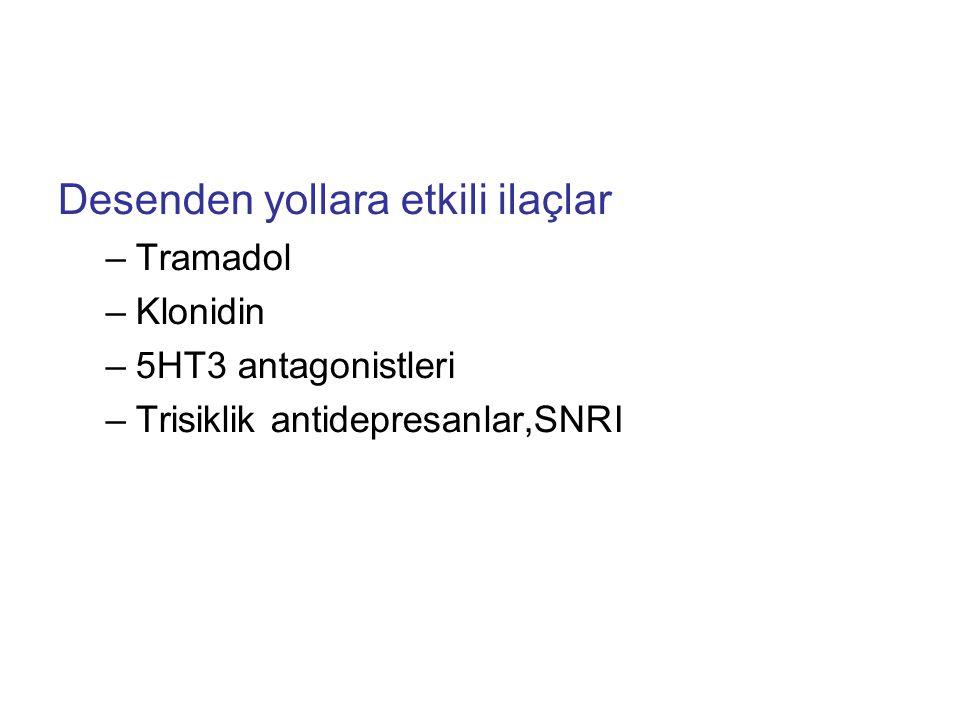 Desenden yollara etkili ilaçlar