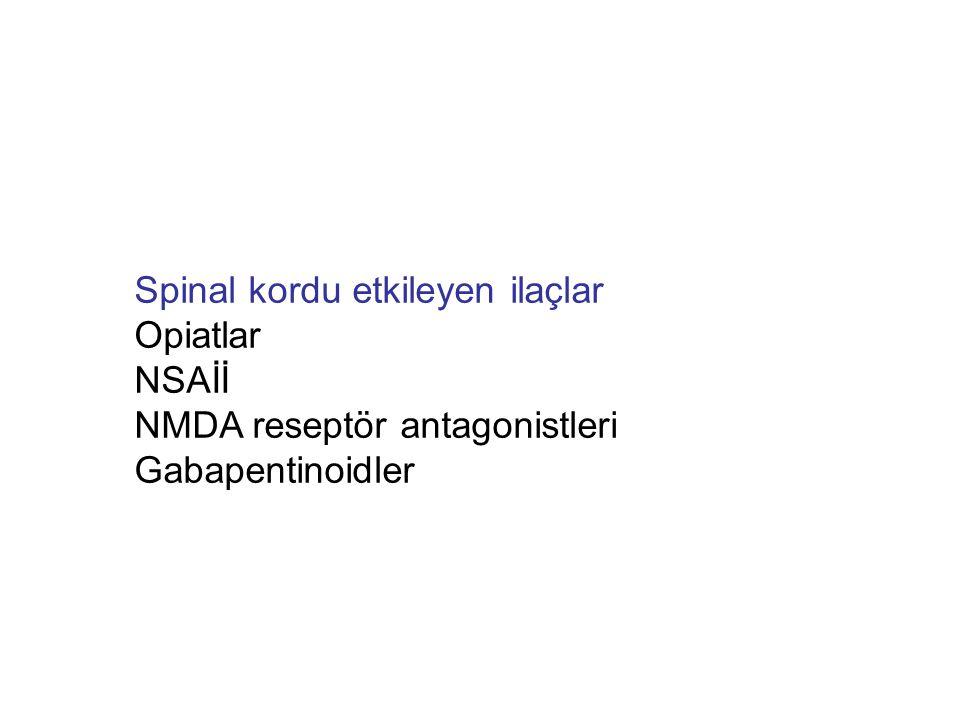 Spinal kordu etkileyen ilaçlar