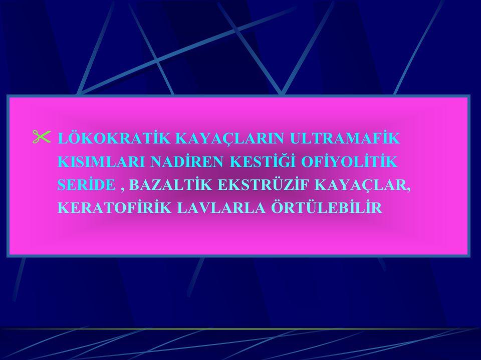  LÖKOKRATİK KAYAÇLARIN ULTRAMAFİK
