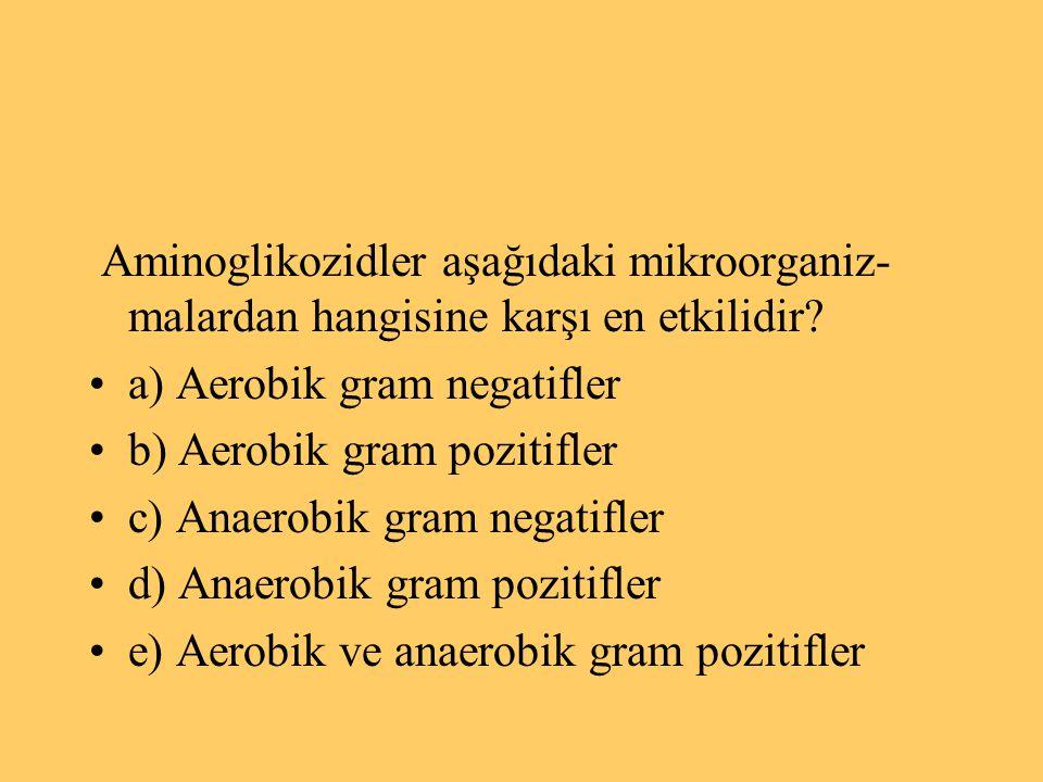 Aminoglikozidler aşağıdaki mikroorganiz- malardan hangisine karşı en etkilidir