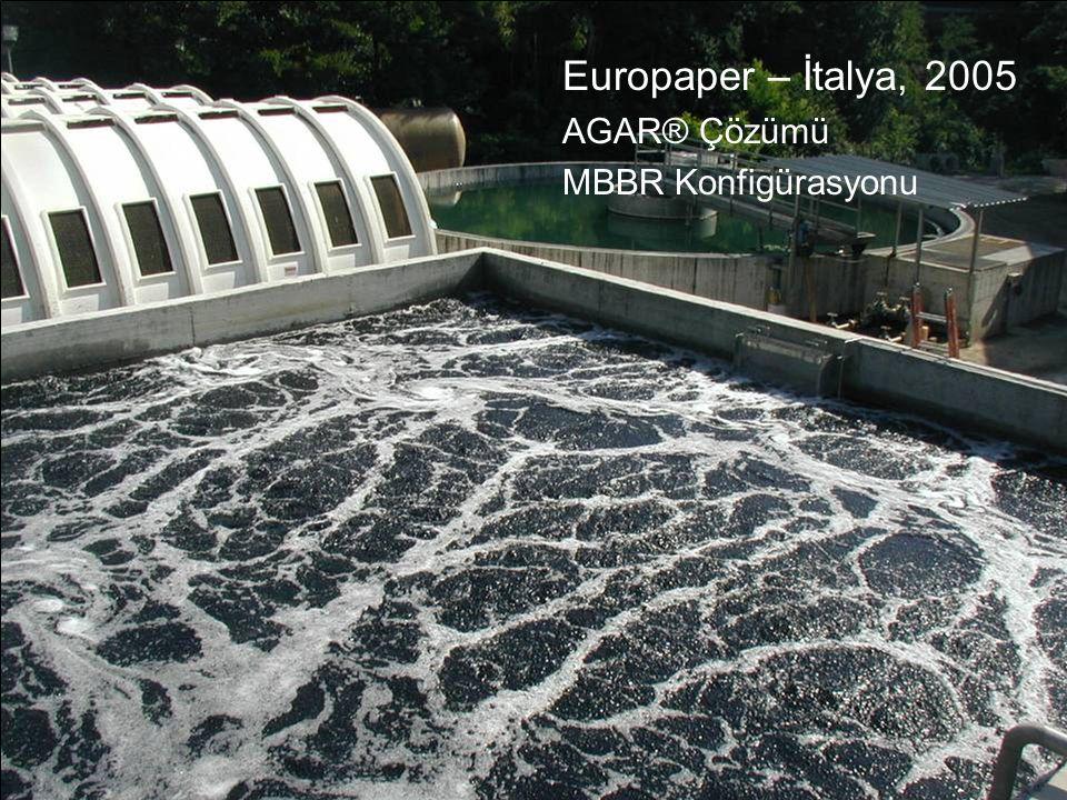 Europaper – İtalya, 2005 AGAR® Çözümü MBBR Konfigürasyonu 14