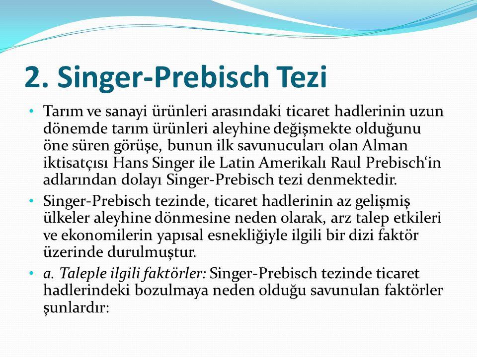 2. Singer-Prebisch Tezi