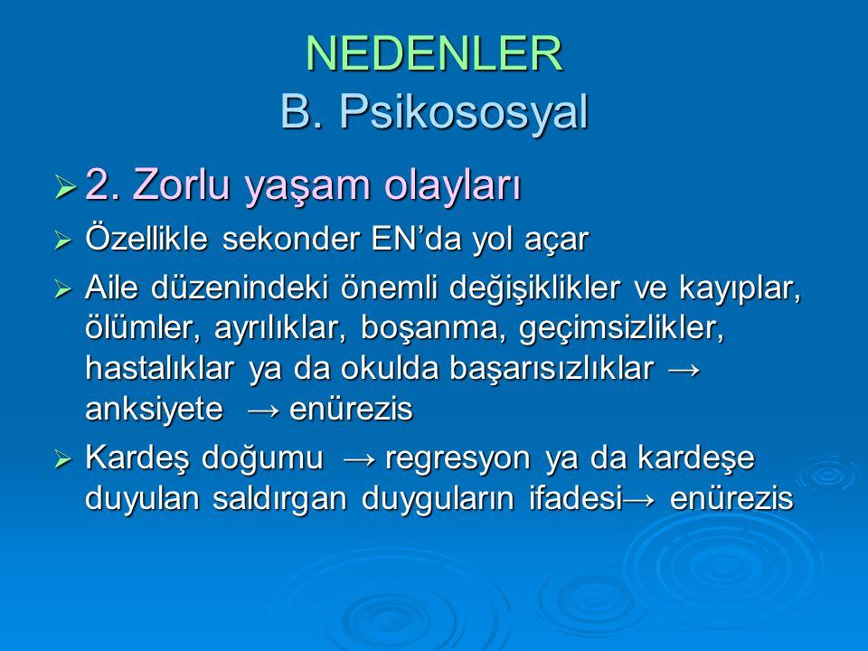 NEDENLER B. Psikososyal