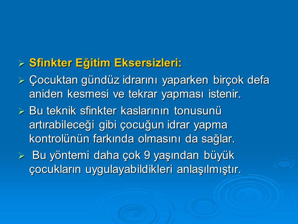 Sfinkter Eğitim Eksersizleri: