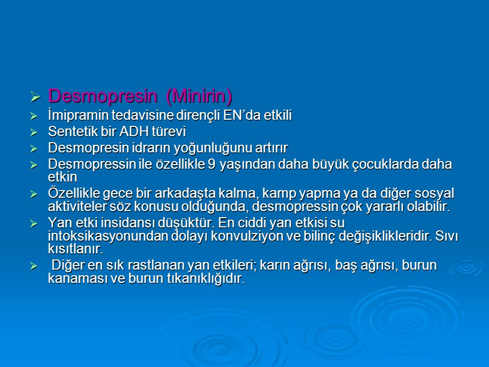 Desmopresin (Minirin)