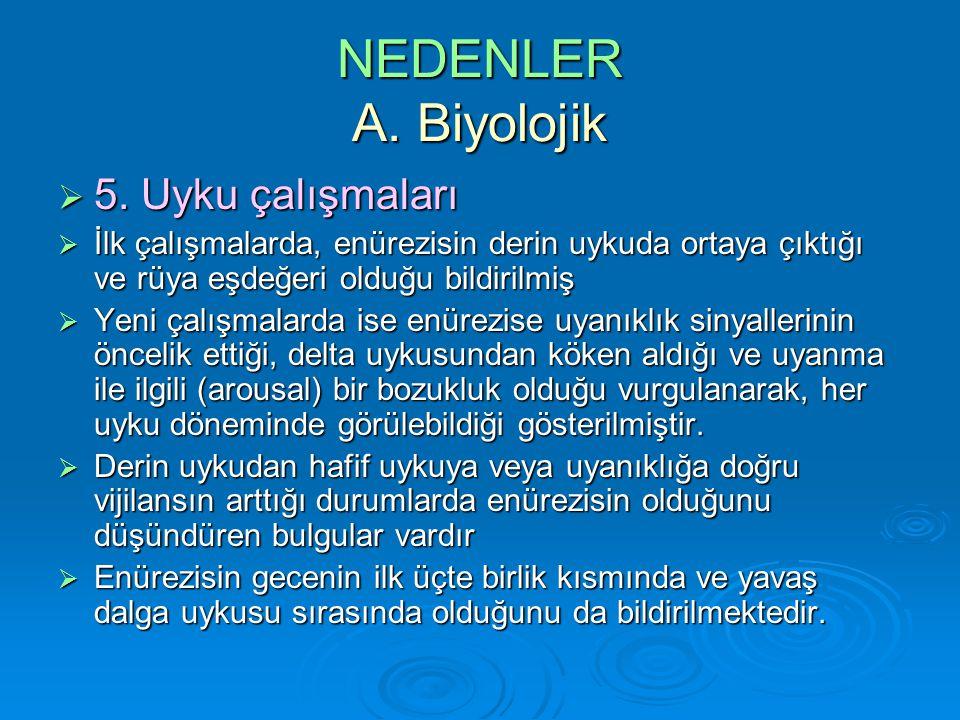 NEDENLER A. Biyolojik 5. Uyku çalışmaları