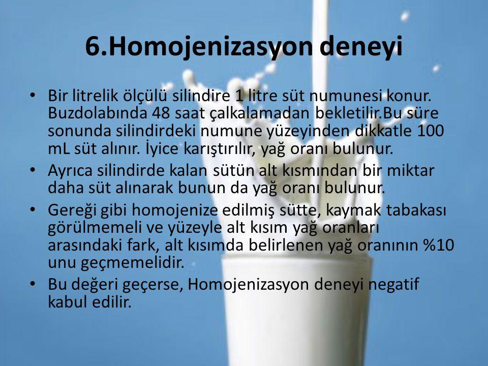 6.Homojenizasyon deneyi
