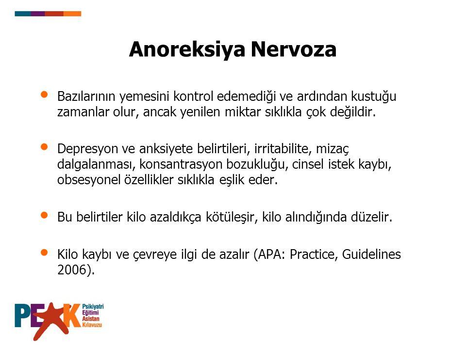 Anoreksiya Nervoza Bazılarının yemesini kontrol edemediği ve ardından kustuğu zamanlar olur, ancak yenilen miktar sıklıkla çok değildir.