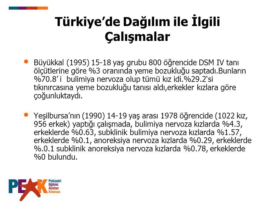 Türkiye'de Dağılım ile İlgili Çalışmalar