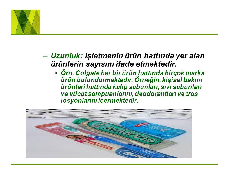 Uzunluk: işletmenin ürün hattında yer alan ürünlerin sayısını ifade etmektedir.