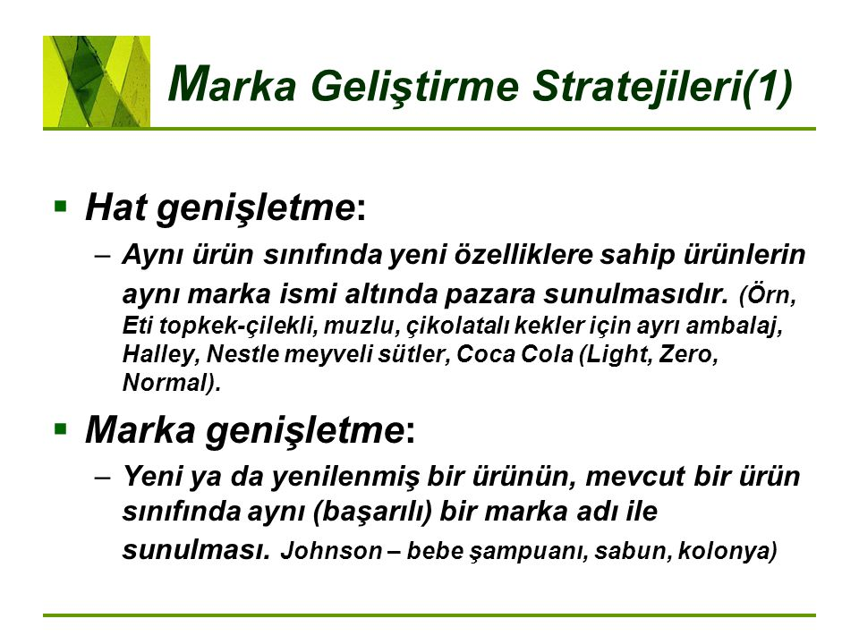 Marka Geliştirme Stratejileri(1)