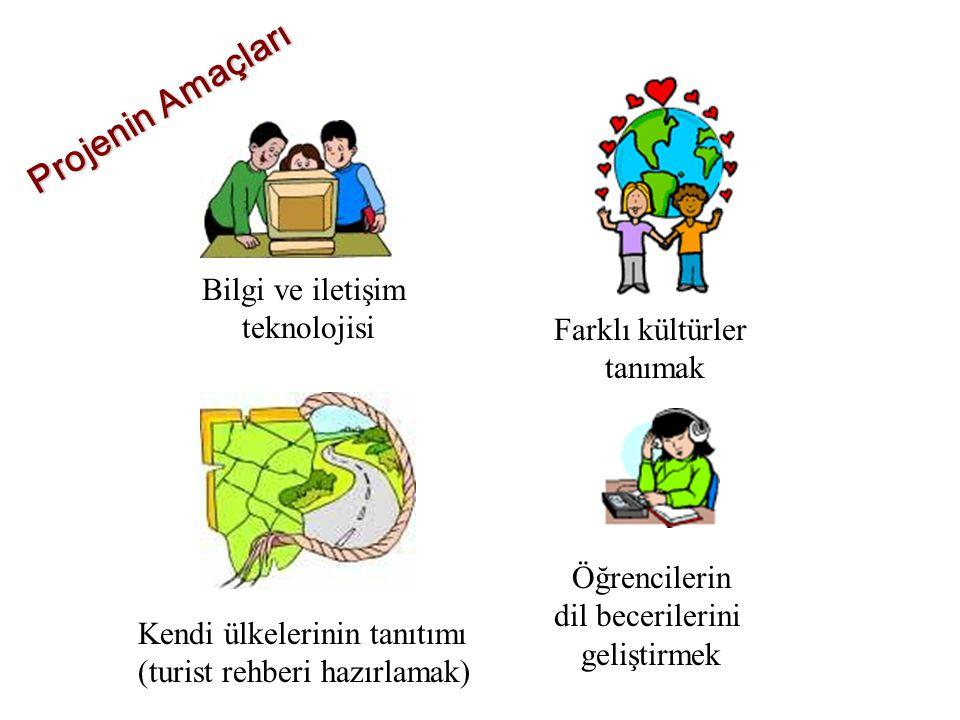 Projenin Amaçları Bilgi ve iletişim teknolojisi Farklı kültürler