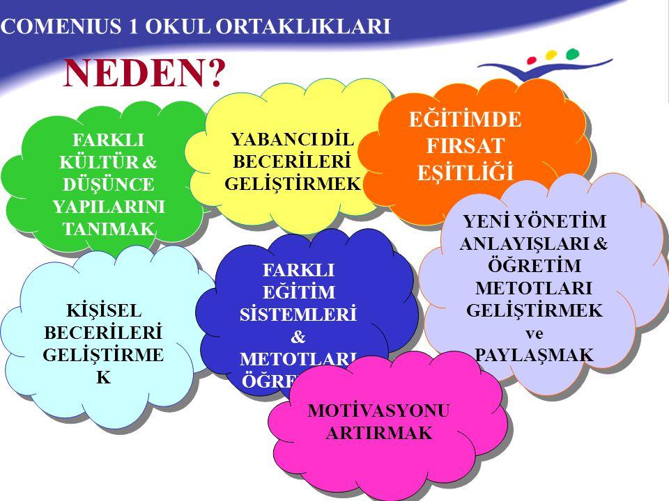 NEDEN COMENIUS 1 OKUL ORTAKLIKLARI EĞİTİMDE FIRSAT EŞİTLİĞİ