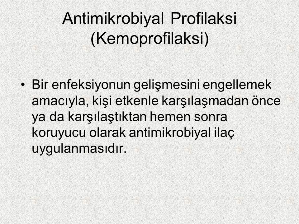 Antimikrobiyal Profilaksi (Kemoprofilaksi)