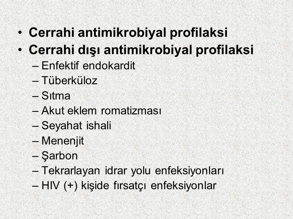 Cerrahi antimikrobiyal profilaksi