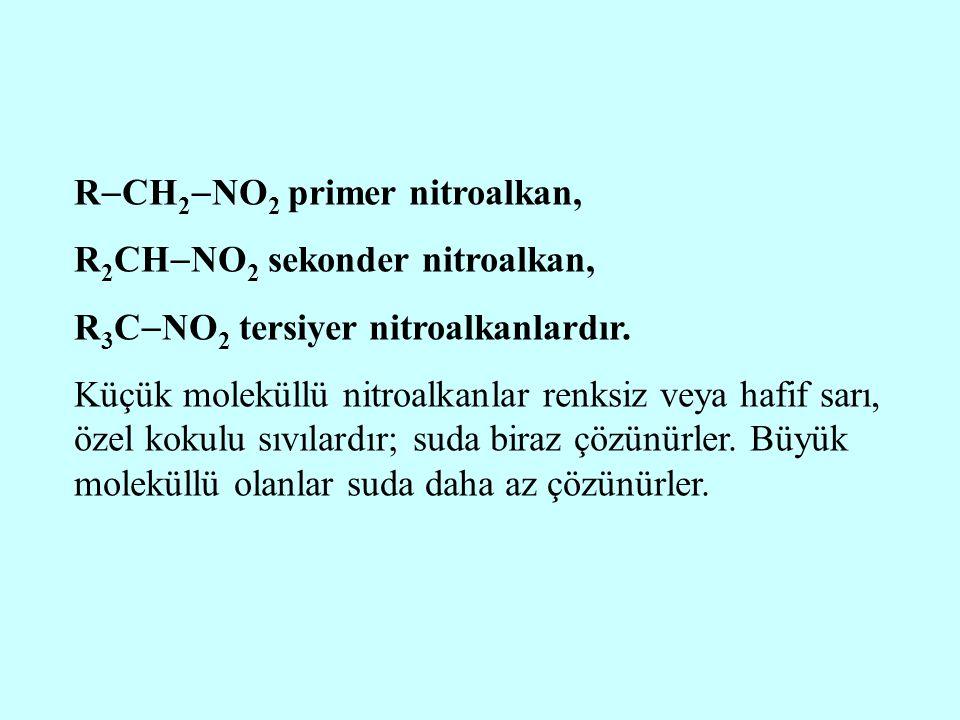 RCH2NO2 primer nitroalkan,