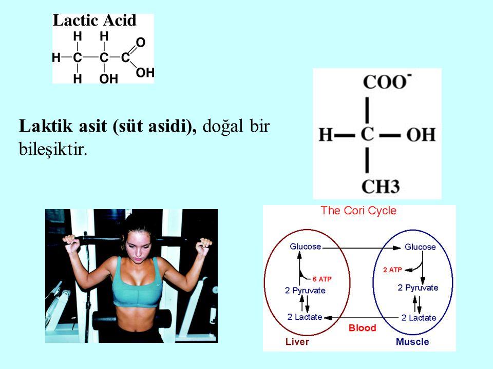 Laktik asit (süt asidi), doğal bir bileşiktir.