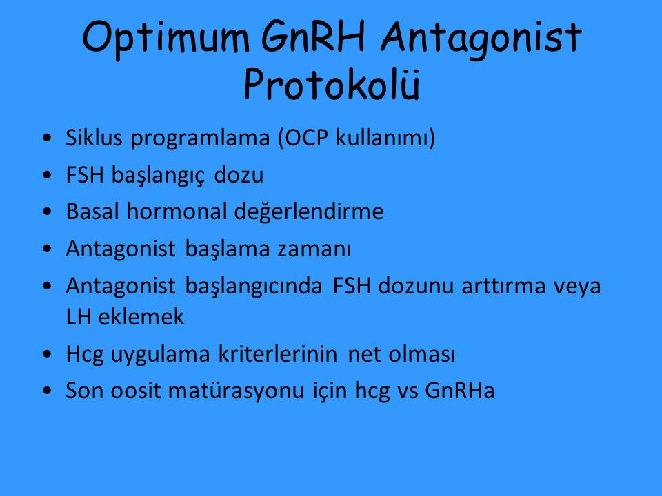Optimum GnRH Antagonist Protokolü