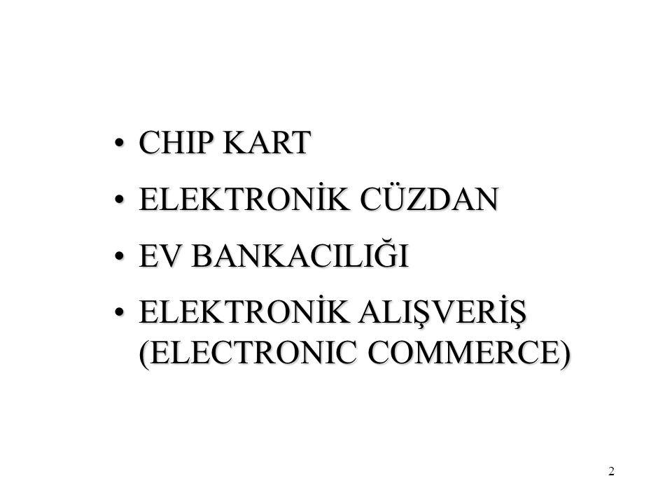 CHIP KART ELEKTRONİK CÜZDAN EV BANKACILIĞI ELEKTRONİK ALIŞVERİŞ (ELECTRONIC COMMERCE)