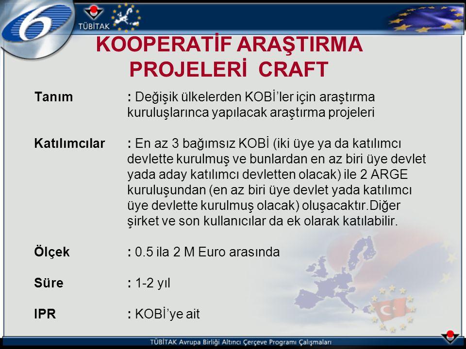 KOOPERATİF ARAŞTIRMA PROJELERİ CRAFT