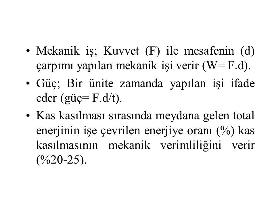 Mekanik iş; Kuvvet (F) ile mesafenin (d) çarpımı yapılan mekanik işi verir (W= F.d).