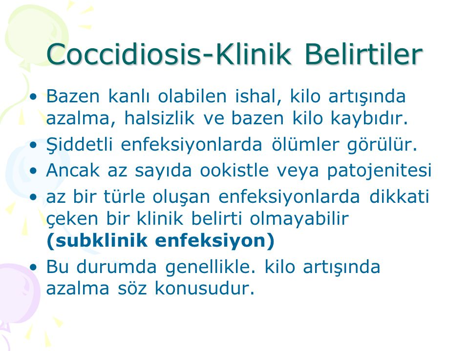 Coccidiosis-Klinik Belirtiler