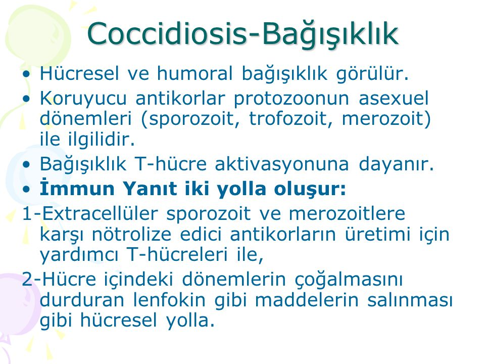Coccidiosis-Bağışıklık