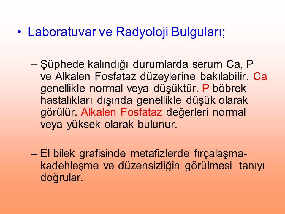 Laboratuvar ve Radyoloji Bulguları;