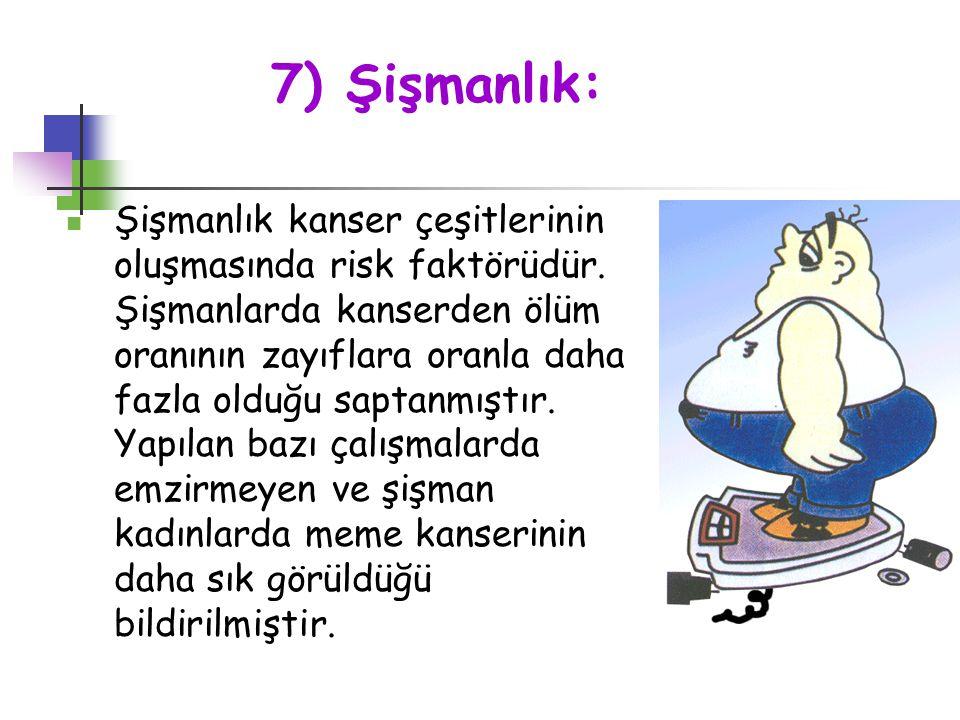 7) Şişmanlık: