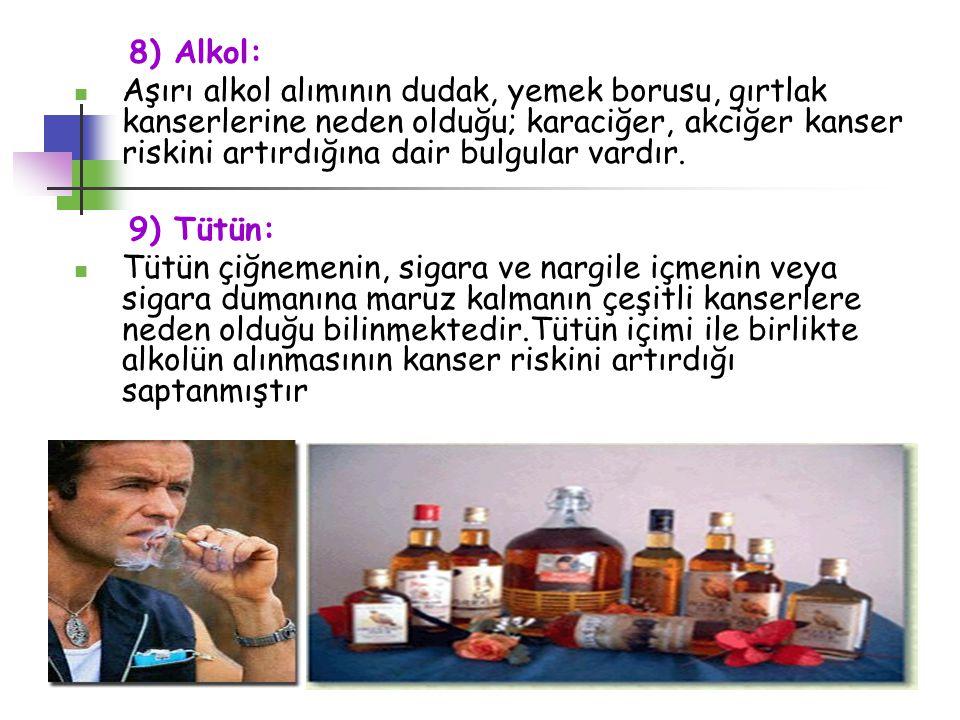 8) Alkol: