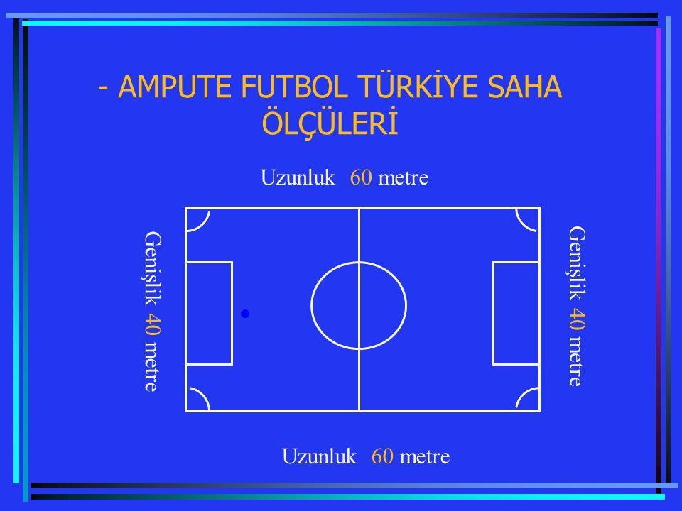 - AMPUTE FUTBOL TÜRKİYE SAHA ÖLÇÜLERİ