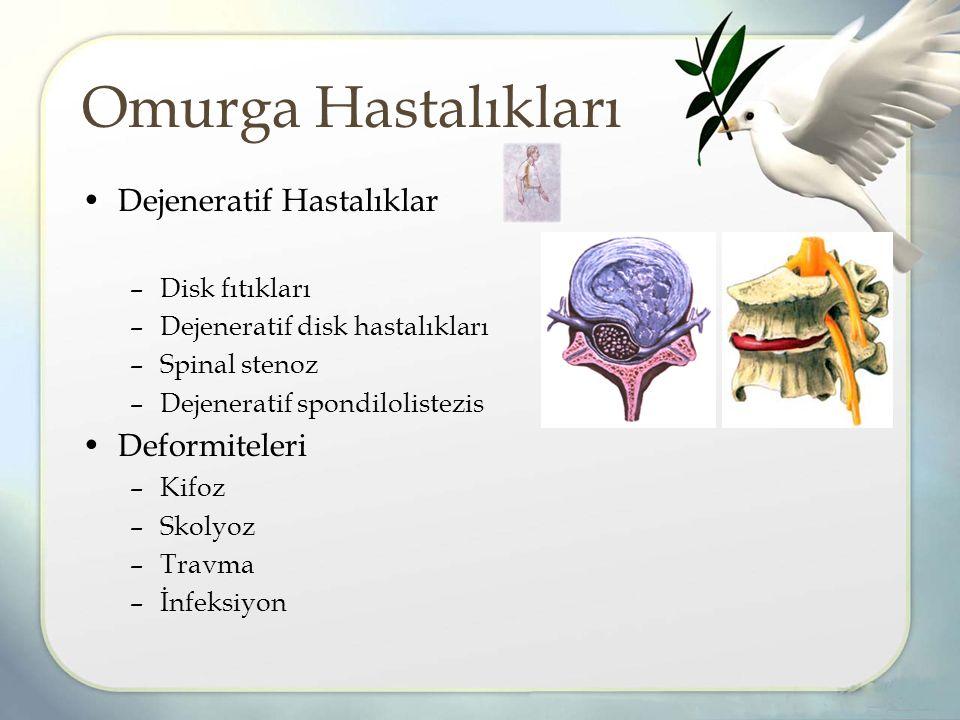 Omurga Hastalıkları Dejeneratif Hastalıklar Deformiteleri